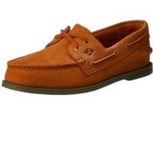 NWT Sperry A/O 2-Eye Tan Boat Shoes